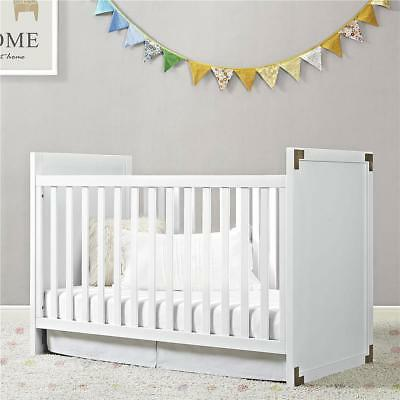 Baby Relax Miles 2-in-1 Convertible Crib, White
