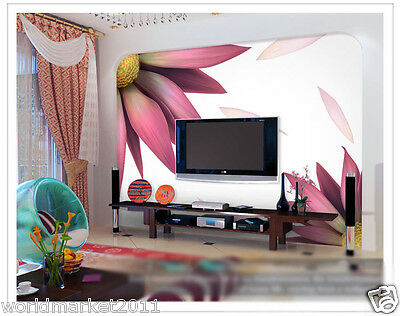 Modern Simple Flower Environmental Decoration Customized Wall Painting Wallpaper