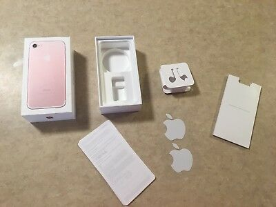 Apple iPhone 7 Retail Empty Box Rose Gold 32 GB EMPTY BOX ONLY