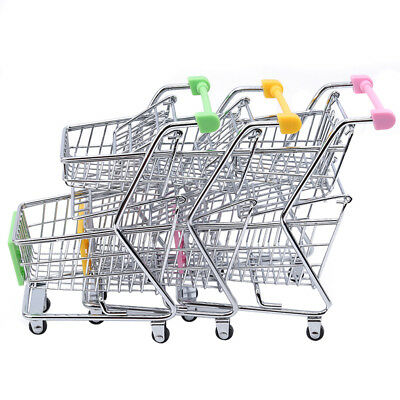 Shopping Cart Supermarket Small Trolley W/Seat Rolling Wheels Kids Toy B