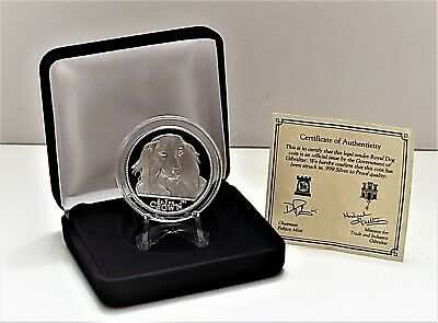 1993 Long Haired Dachshund Dog -  1 Crown Silver Proof