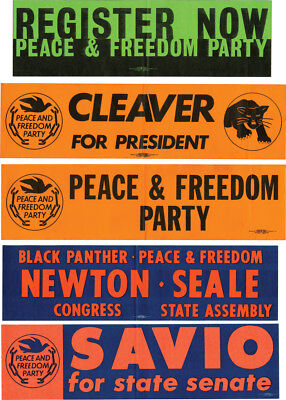 Black Panthers COLLECTION OF 5 ORIGINAL BLACK PANTHER PEACE AND FREEDOM #143730