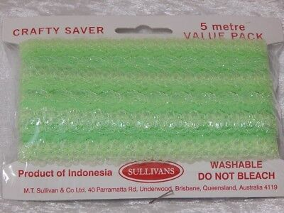 Eyelet Lace 5m Pack Flower Edge Opal Green **Volume Discounts Available**
