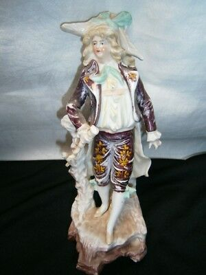 Antique Hand Painted Porcelain Figurine Of Gentleman Toff.