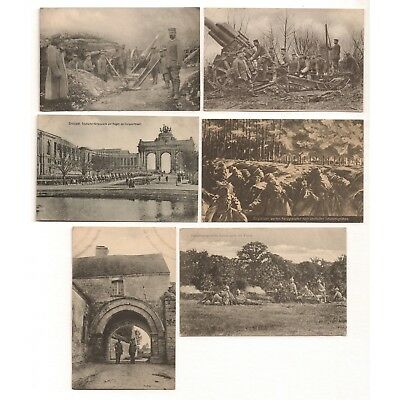 WWI GERMAN SOLDIERS IN BATTLE - Antique Unposted Postcards