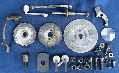 Edison Cylinder Phonograph Motor Assembly Small Parts, Governor, Gears, Springs+