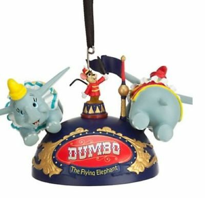Disney Parks Christmas Tree Decoration Ornament Flying Dumbo Ear Hat Brand New