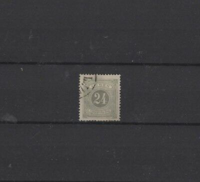 SWEDEN TYPE D6 POSTAGE DUE, 1874, D346 24 ore GREY, USED....CAT VAL £16.00+