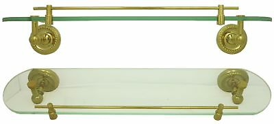 Glass Shelf Console Shelves Wall Rack Storage in Gold