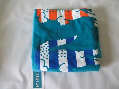LACOSTE Bayadere III 100% Cotton Beach Towel Turquoise $42 BRAND NEW