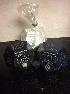 NORTHWEST ORIENT AIRLINES 1974 1975 1976 CALENDAR CUBES DODECAHEDRON 12 Sided