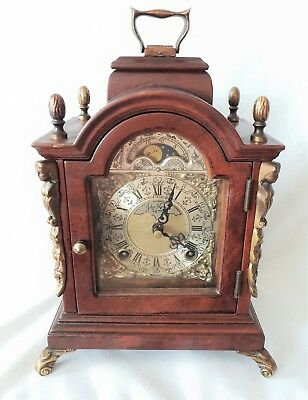 Mantel Clock Warmink Wubba Vintage Dutch Shelf Moon Dial Night Switch Spares