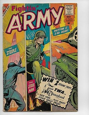 Fightin Army 34 - G 2.0 - Battling Nazis - Silver Age War Stories (1960)