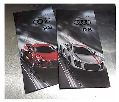 (2) 2018 18' Audi R8 Prestige Dealer Brochure Coupe / Spyder V-10 + REAR Wheel