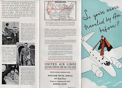 1930s United Air Line Brochure, So You've Never Travelede By Air Before
