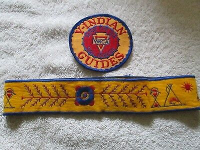 father and son pals forever ymca indian guides patch and headband