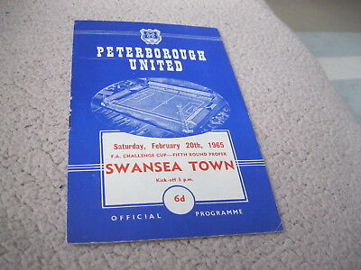 PETERBOROUGH UTD v SWANSEA TOWN 20/2/65, FA CUP 5TH RD