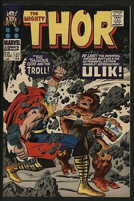 THOR #137 1st ULIK THE TROLL. 2ND LADY SIF. STUNNING ORIG. OWNER COPY FROM 1967