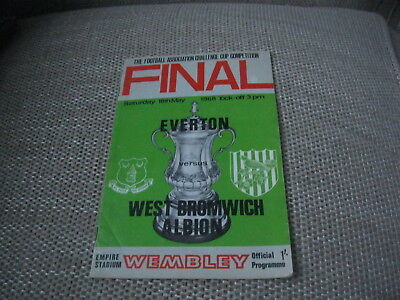 1968 FA CUP FINAL: EVERTON v WEST BROMWICH ALBION 18/5/68