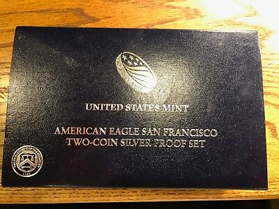 2012 S American Silver Eagle SAN FRANCISCO TWO COIN SET Proof & Reverse (002)