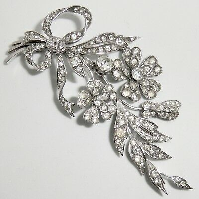 Vintage HM Sterling Silver Articulated Floral Spray Brooch