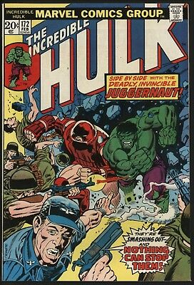 Incredible Hulk #172 With The Juggernaut! Non Distributed In The Uk. Nice Copy