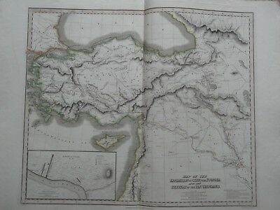 Map Of Expedition Of Cyrus The Younger. Thomson Classical Historical Atlas 1820
