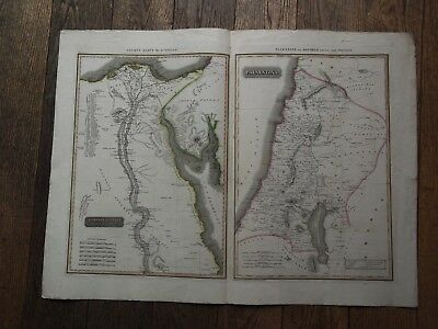 Map Ancient Egypt.palestine. D'anville.thomson Classical & Historical Atlas 1820