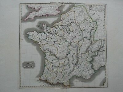 Ancient France.d'anville.gallia Antiqua. Thomson Classical Historical Atlas 1819