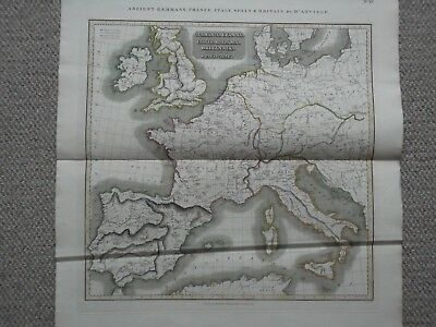 Ancient Germany France Italy Spain Britain. Thomson Historical Atlas. D'anville