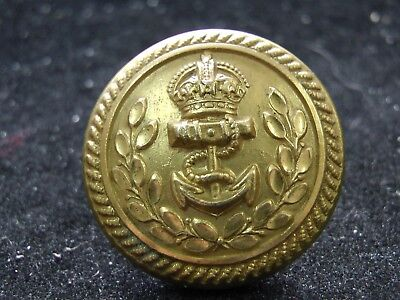 RARE SIZE BRITISH ROYAL NAVY ADMIRAL GILT COAT BUTTON 24mm blank WWI  WWII