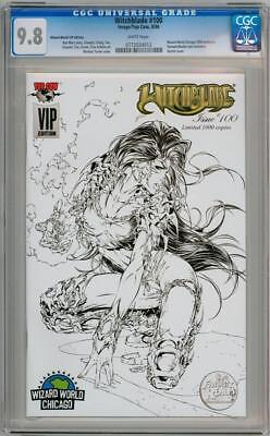 Witchblade #100 Michael Turner Vip Sketch Variant Cgc 9.8 Image Top Cow Comics