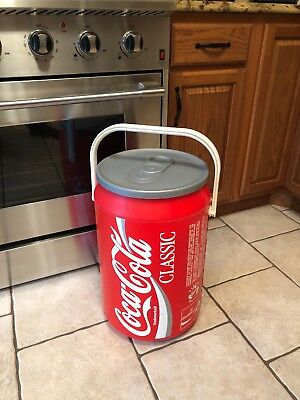 Vintage Coca Cola Classic Barrel Ice Cooler 90's Party Cooler