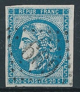 [32870] France 1870 Good classical stamp 4 margins Very Fine used Value $145
