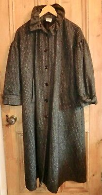 Vintage Laura Ashley Grey Welsh Wool Tweed Coat