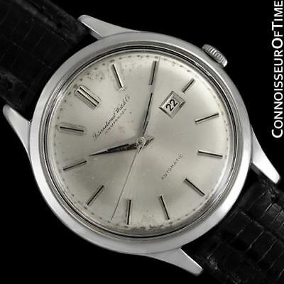 1963 IWC Vintage Mens Cal. 8531 SS Watch - Rare Oversized 37mm & All-Original