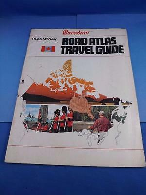 Road Atlas Travel Guide Canadian Rolph Mcnally 1970 Mileage Chart Vintage