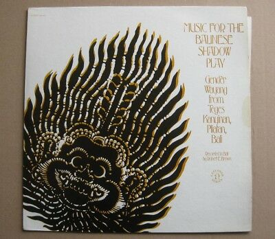 LP MUSIC FOR THE BALINESE SHADOW PLAY Gender Wayang from Teges USA NONESUCH