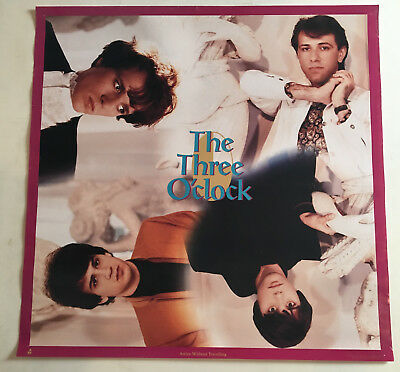 The Three O'clock Arrive without Traveling On Tour, Original 1985 Vintage, 24x24