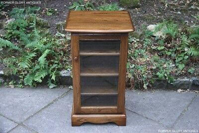 Ercol Golden Dawn Elm Cd Storage Display Cabinet Shelves Lamp Phone Table Stand