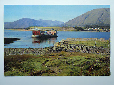 Dixon's large old colour PC Corran Ferry, Loch Linnhe, Inverness-shire. Unposted