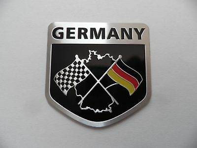 Racing Motorsport Flagge Wappen Alu 3D Aufkleber Sticker Emblem zb BMW, VW, OPEL