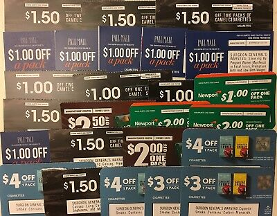 $45+ in tobacco coupons Camel Pall Mall Kool Newport Spirit 25 Coupons