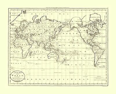 International Map - Captain Cook Discoveries - World - 28.50 x 23