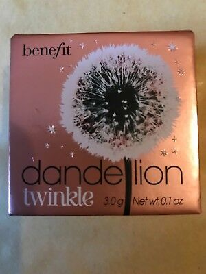 Benefit Dandelion Twinkle Nude-Pink Powder Highlighter & Luminizer New Full Size