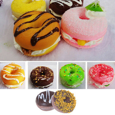 Donut Bread Fake Food Toy Bakery Display Props Decor Colour Random TO