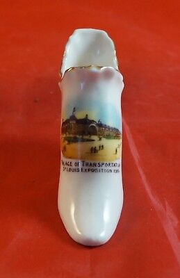PORCELAIN  Minature Shoe 1904 St. Louis World's Fair Palace of TRANSPORTATION