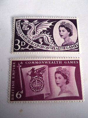 1958 Great Britain 6th British Empire & Commonwealth Games mounted mint Mi.304/6