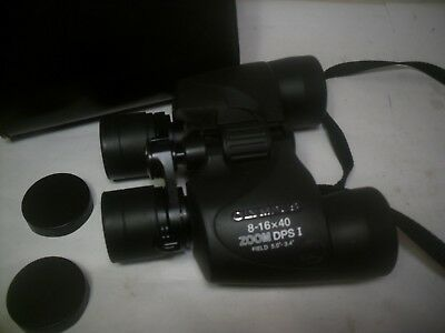 Olympus Zoom Binoculars DPS I 8-16 X 40 With Case And 2 Covers
