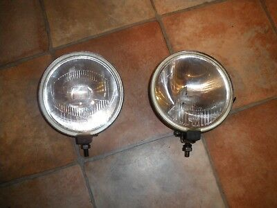 Pair of Hella Comet 500 Driving lamps with covers; off-road, 4x4, classic car